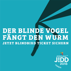 JoomlaDay 2016 BlindBird Ticket sichern