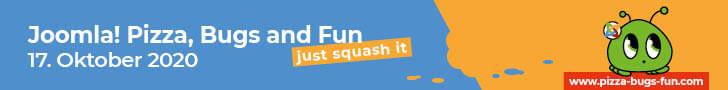 Pizza, Bugs & Fun 2020 - Joomla! Event