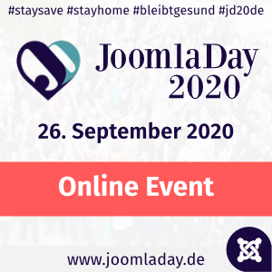 JoomlaDay Deutschland 2020 - Online Event