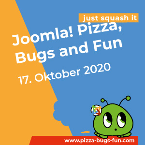 Joomla! Pizza, Bugs and Fun - am 17. Oktober 2020