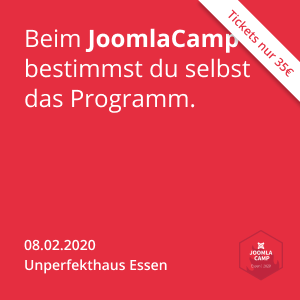 JoomlaCamp 2020 - am 08.02.2020