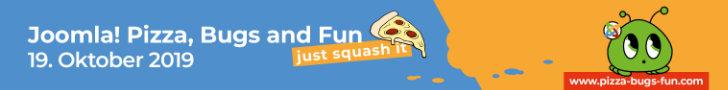 Joomla! Pizza, Bugs and Fun - am 19. Oktober 2019