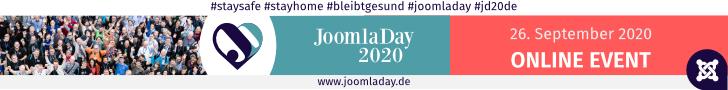 JoomlaDay 2020 - Die deutsche Joomla! Konferenz 26.09.2020, Online Event