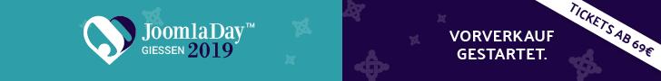 JoomlaDay Deutschland 2019 - 13.+14. September 2019 in Gießen